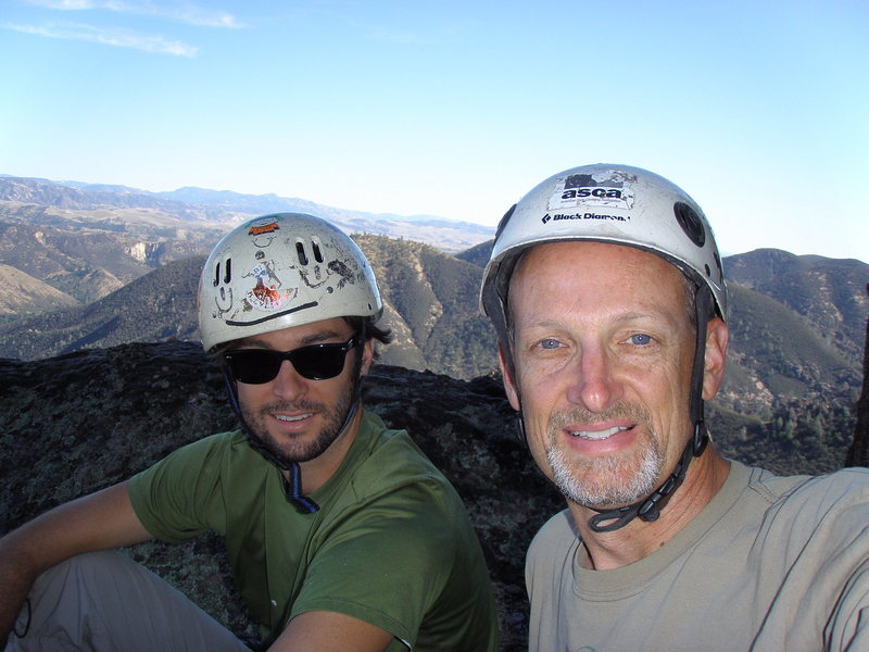 On the summit of H&L Dome after completing Feather Canyon.