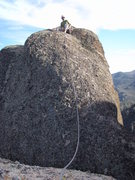 Rock Climbing Photo: Tyler on the south summit of H&L Dome at the top o...
