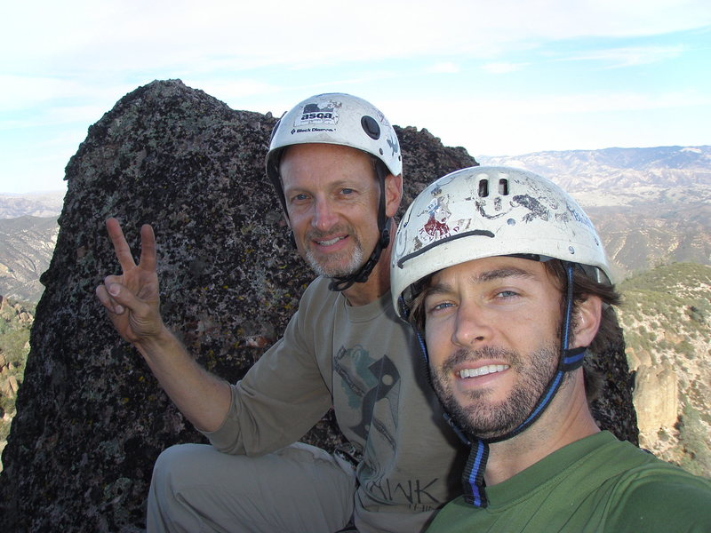 On the north summit of H&L Dome just before the rappel.