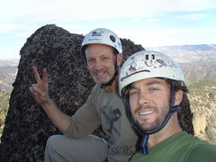 Rock Climbing Photo: On the north summit of H&L Dome just before the ra...