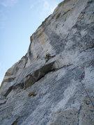 Rock Climbing Photo: Pitch 1 of OZ, Tuolumne Meadows