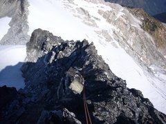 Rock Climbing Photo: Climbing the N. Ridge of Primus
