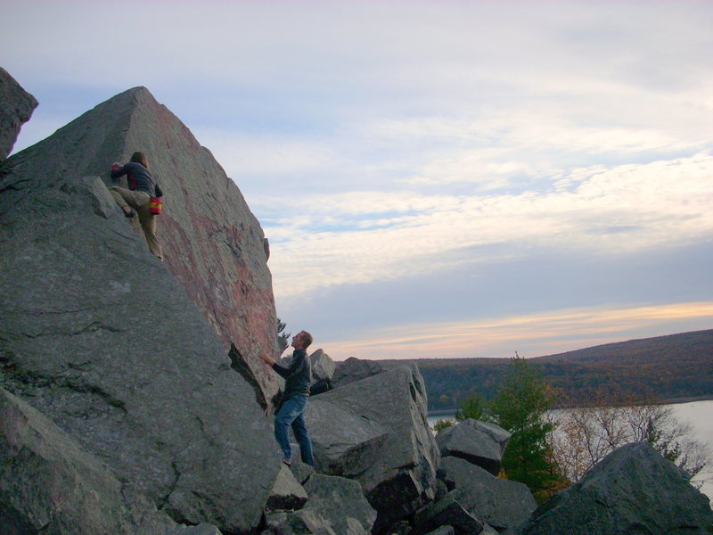 Rock Climbing Photo: Vinny, on the Australia Boulder.
