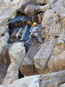 Rock Climbing Photo: Roger starting up P1 of Emerald City/Sapphire on a...