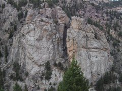 Rock Climbing Photo: An overview of the area, showing Mary's Bust, its ...