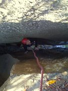 Rock Climbing Photo: Huong sees the light at the end of the tunnel.