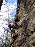 Rock Climbing Photo: Huong on the sharp end for G&C.