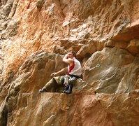 Rock Climbing Photo: The butt scum rest.