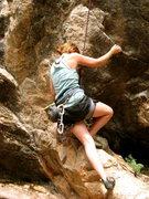 Rock Climbing Photo: My sister gettin' fierce on Choss Master.