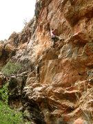 Rock Climbing Photo: Higher up.