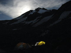 Rock Climbing Photo: Bolam Glacier Camp at Night, Mt. Shasta