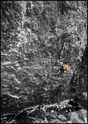 Rock Climbing Photo: Jake on overhangus interuptous 5.11c