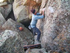 "Rock Climbing Photo: Low Hanging Melons.  ""George"" ascends th..."