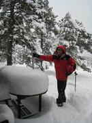 """Rock Climbing Photo: Snow Day Oct 2009.  17"""" so far!"""