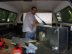 Rock Climbing Photo: Finishing up the veggie oil conversion on my truck...