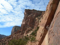 Rock Climbing Photo: The vistas from this area are amazing.  Jim is cle...