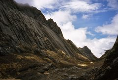 Rock Climbing Photo: Base camp below the north face can be seen to the ...
