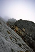 Rock Climbing Photo: Steep corners lead up to the summit ridge.
