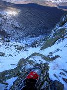 Rock Climbing Photo: Near the top of O'Dell's.