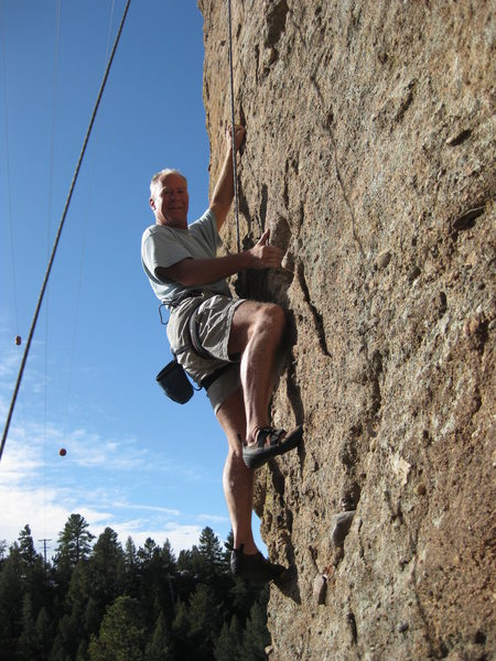 Rock Climbing Photo: Tom Hanson doin' what he does best....