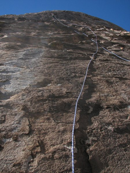 Rock Climbing Photo: First pitch of WJ