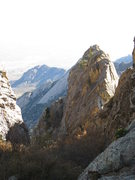 Rock Climbing Photo: Minerva's Temple (right of center) as seen from Hu...