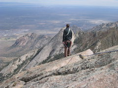 Rock Climbing Photo: Aaron enjoys the view of Sugarloaf and the White S...