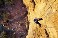 Rock Climbing Photo: Rappelling down that fall.  Don't know what climbi...
