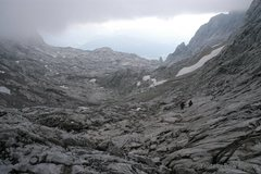 Rock Climbing Photo: Colin and Forest descending the massive gully. Pho...
