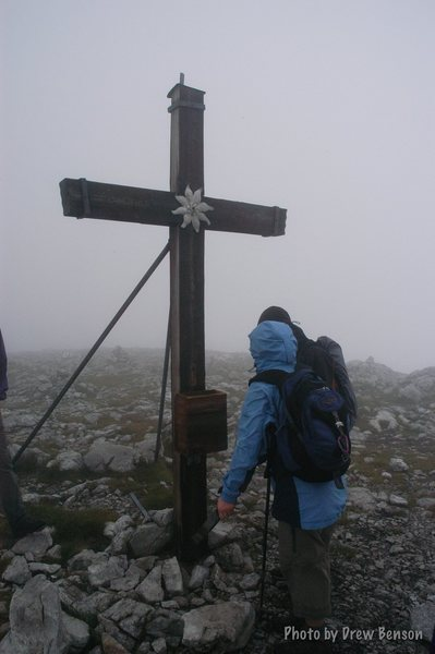 Rock Climbing Photo: The summit cross of the Hohe Brett.  Photo Drew Be...