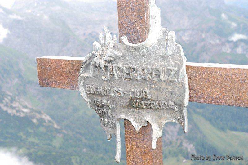 The Jaeger Kreutz (first summit on the traverse).  Photo: Drew Benson