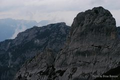 Rock Climbing Photo: Kehlstein from the gully, Pflughoerndl in foregrou...