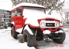Rock Climbing Photo: Ultimate Climbing Vehicle Toyota Landcruiser FJ40