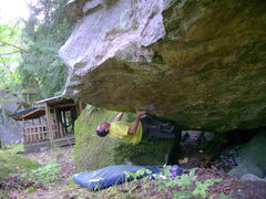 Rock Climbing Photo: The start holds.