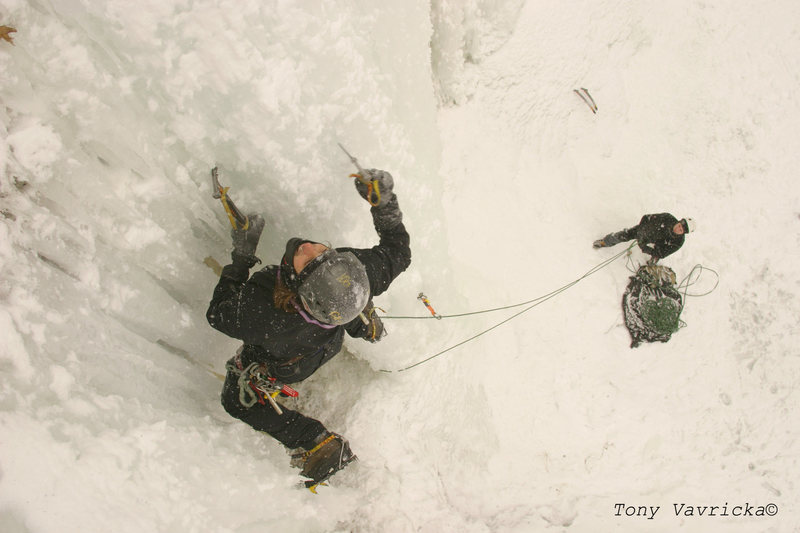 Rock Climbing Photo: Frozen Mississippi near downtown Minneapolis, MN