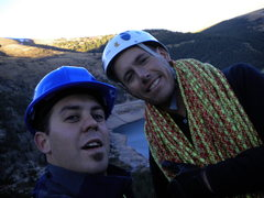 Rock Climbing Photo: Jake and Me at the top of ice
