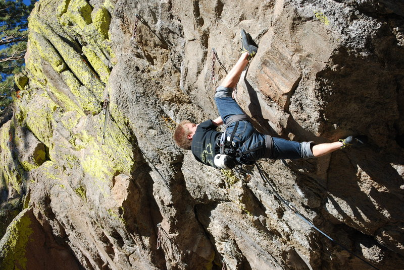 Shortly after the crux section.