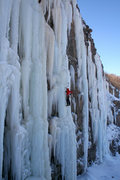 Rock Climbing Photo: Laura seconding on the FA of Awakening at the Secr...
