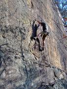 Rock Climbing Photo: Matt Johns on Diamond in the Rough 5.10c, Red Rive...