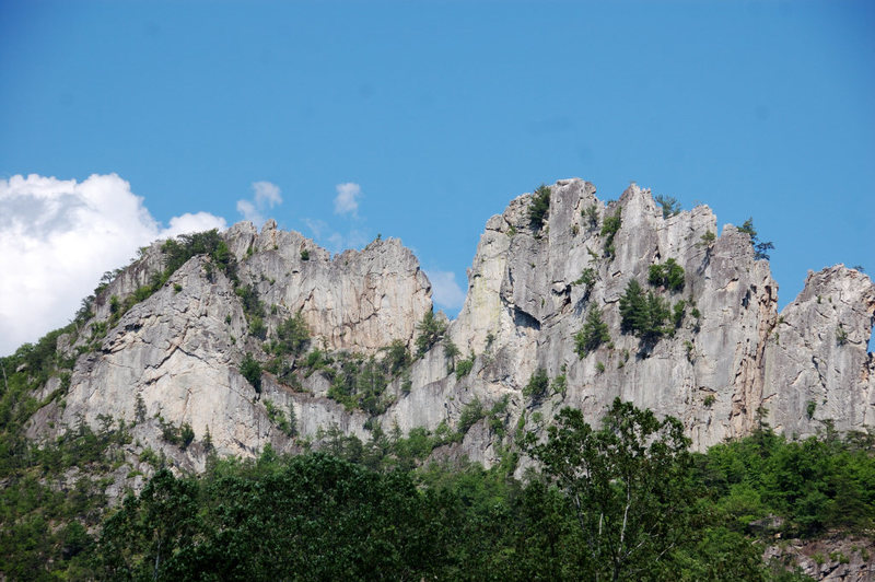 Rock Climbing Photo: Great shot of the rocks from the parking lot.Photo...