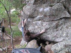 Rock Climbing Photo: Getting around the corner