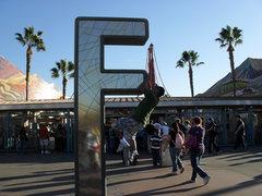 Rock Climbing Photo: Me sending at Disneyland.