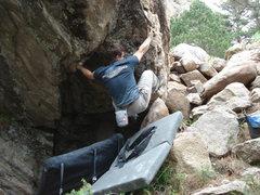 Rock Climbing Photo: Coming over the lip