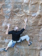 Rock Climbing Photo: Nearing the fourth bolt