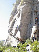 Rock Climbing Photo: First ascent of the arete.