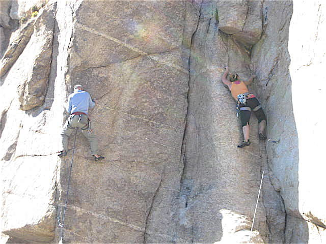 Diehedral is the corner between these two climbers.