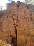 Rock Climbing Photo: Without a doubt the first 10 year old ascent, TR o...