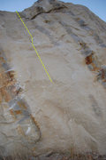 Rock Climbing Photo: Between the lines.  The start holds are located on...