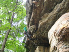 Rock Climbing Photo: Heading over the roof