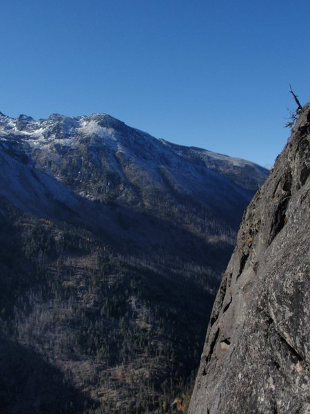 Rock Climbing Photo: View from route up Icicle Canyon